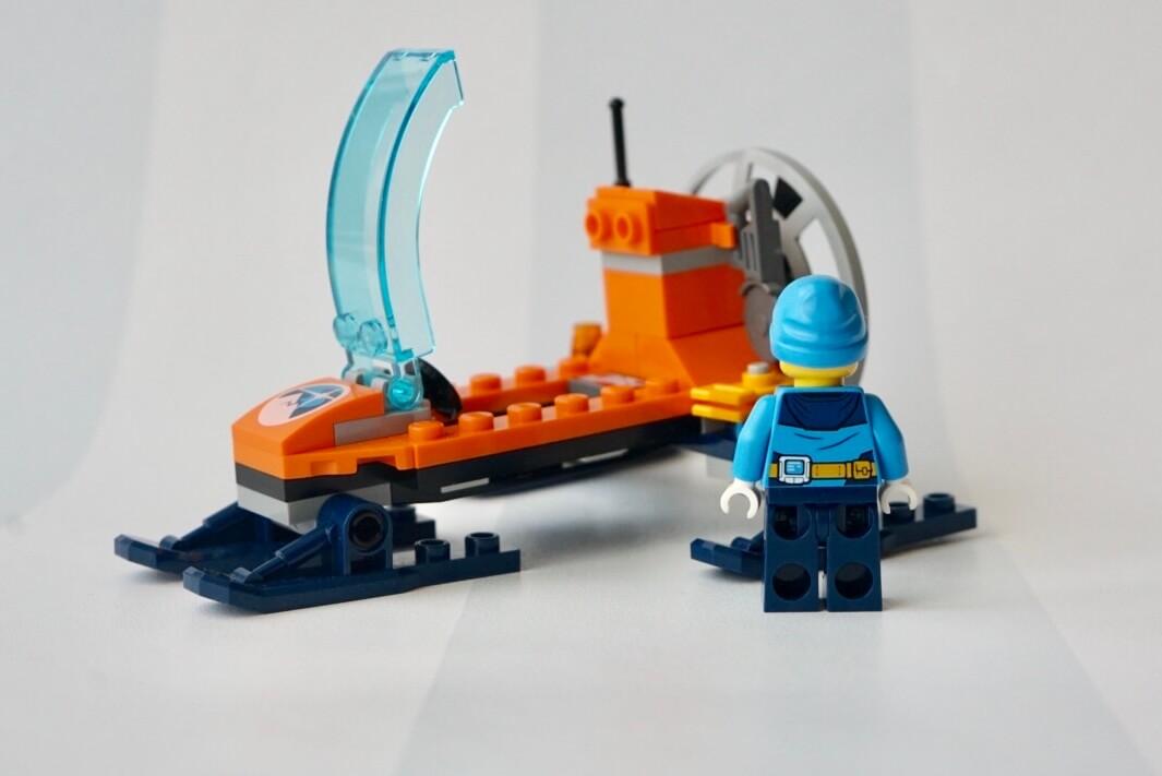 レゴシティ北極探検隊シリーズ60190アイスグライダーのミニフィグ・男性隊員