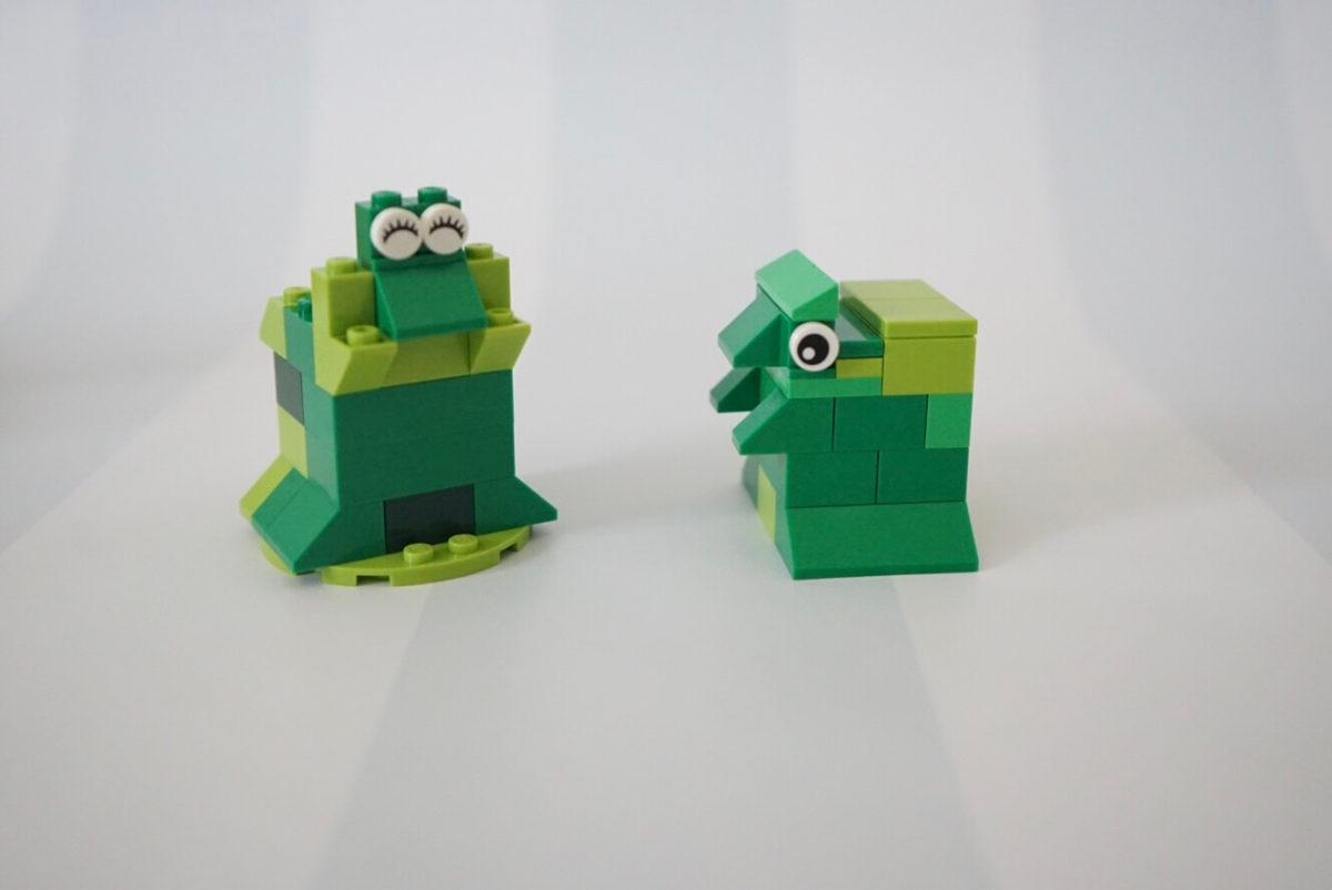 5歳児がレゴで作ったカエル