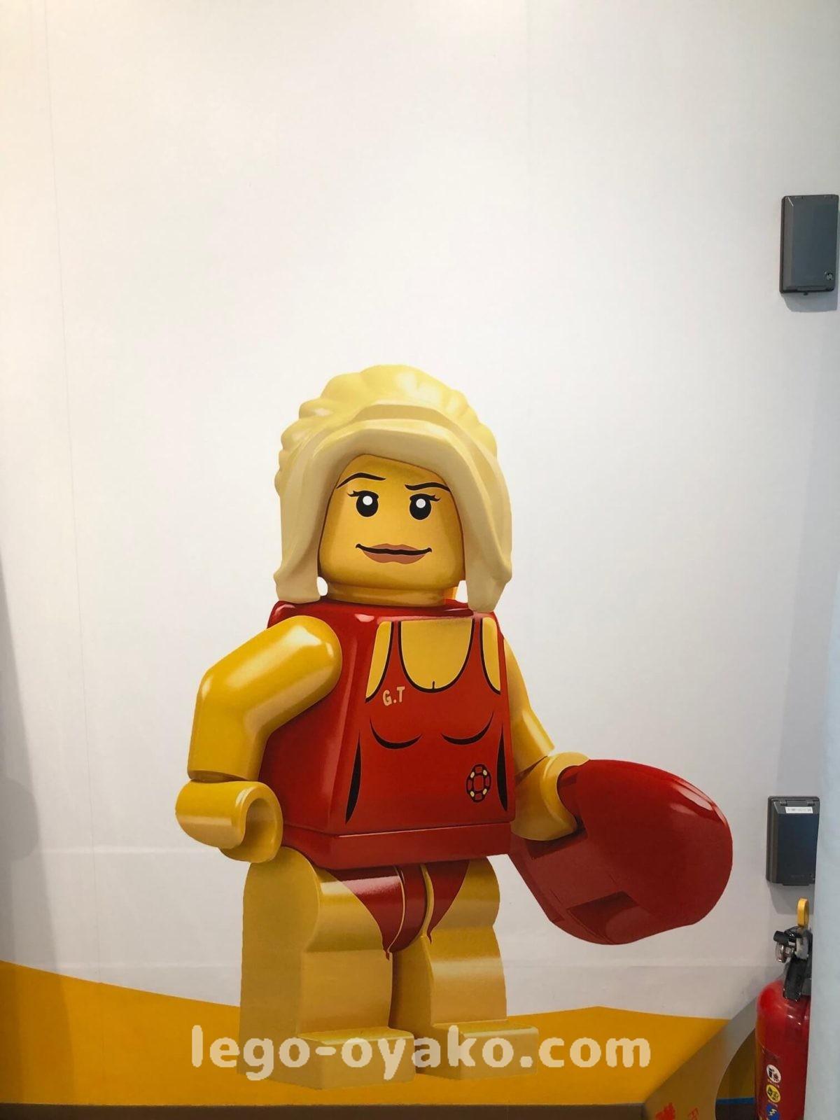 水着のレゴミニフィグ