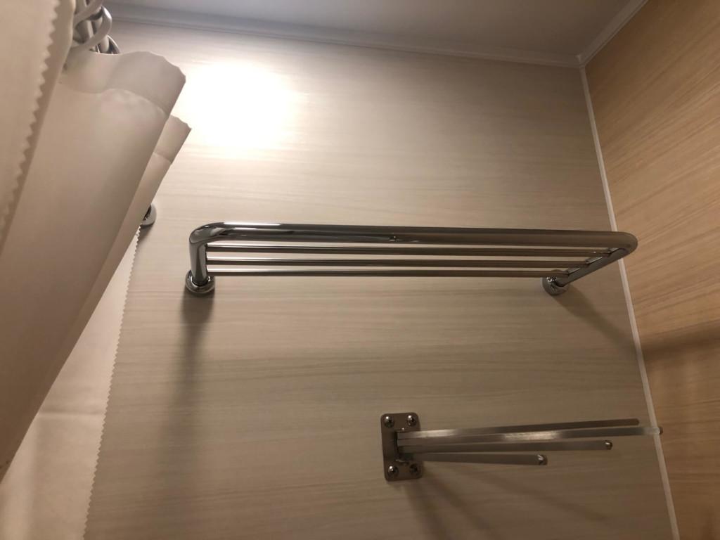 レゴランドホテルのプレミアムフレンズの部屋の物干し