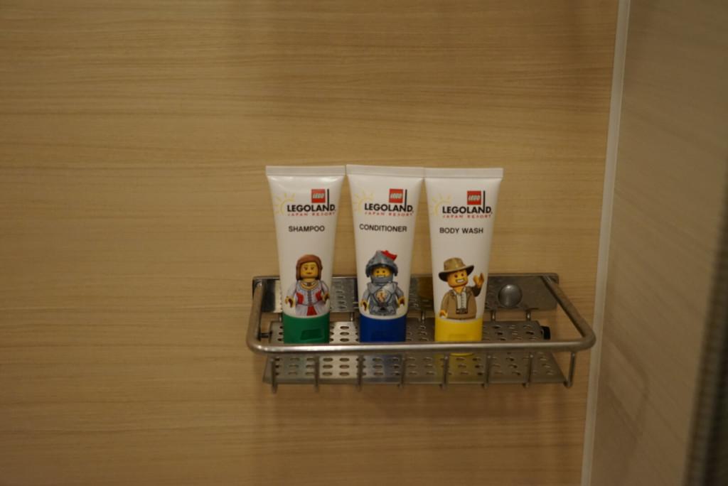 レゴランドホテルのプレミアムフレンズの部屋のアメニティ