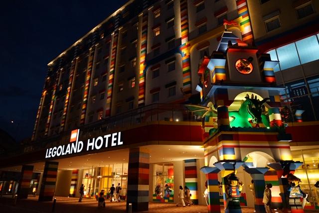 レゴランドホテル夜のライトアップ外観