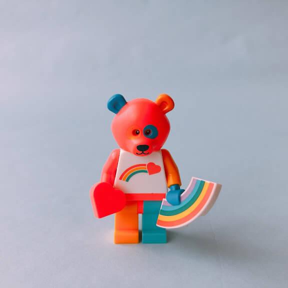 レゴミニフィグシリーズ19  Bear Costume Guy(熊の着ぐるみを着た男性)