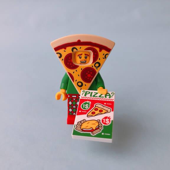 レゴミニフィグシリーズ19 Pizza Costume Guy(ピザの着ぐるみを着た男性)