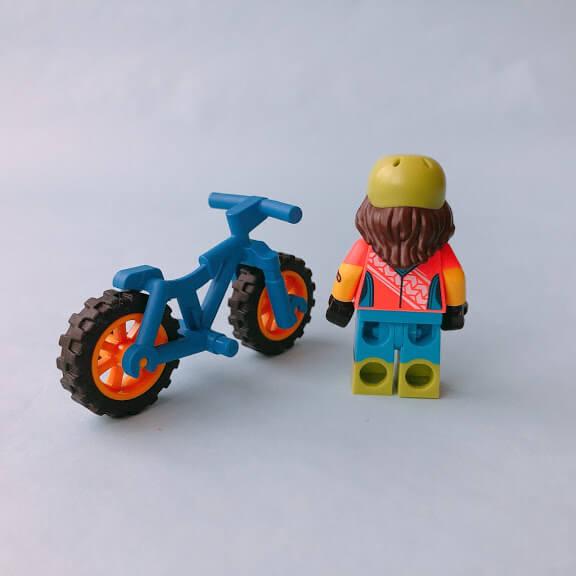 レゴミニフィグシリーズ19 Mountain Biker(マウンテンバイク乗り)