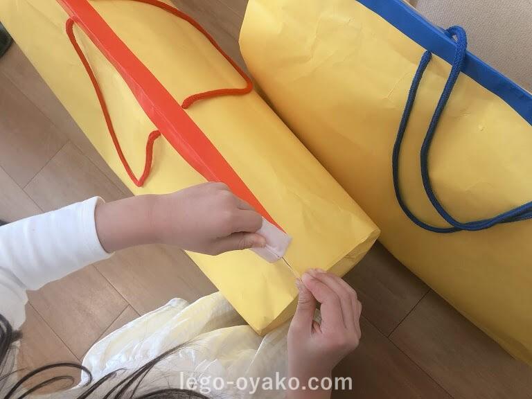 トイザらスのレゴ福袋(ラッキーバッグ)が届いた時の様子