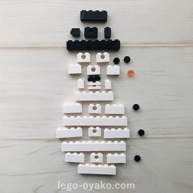 トイザらスのレゴ体験会で作った雪だるま