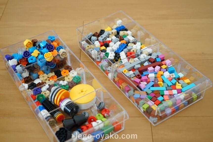 ニトリのレターケースでレゴの収納