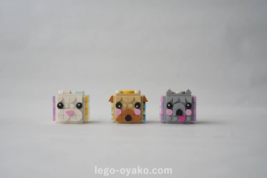 「レゴ ドッツどうぶつフォトスタンド 41904」のアレンジ作品例
