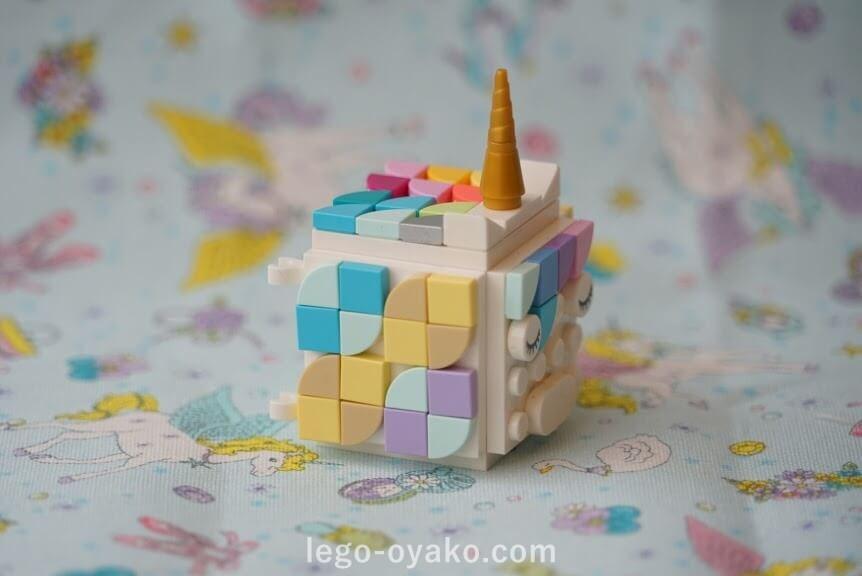 「レゴ ドッツどうぶつフォトスタンド 41904」のアレンジ作品例 ユニコーン