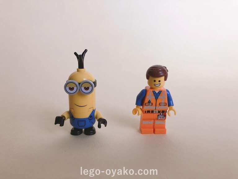レゴ ミニオンと秘密基地75551のレビュー ミニフィグ