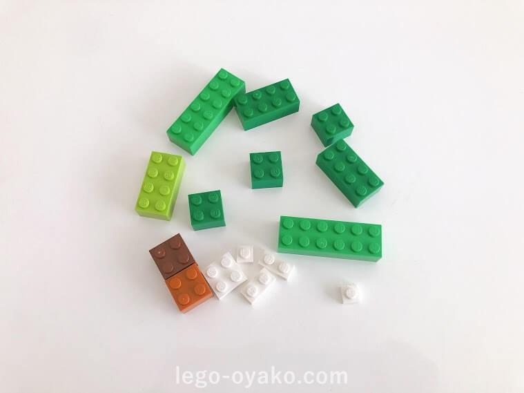 基本のレゴを使ったクリスマスツリーの作り方