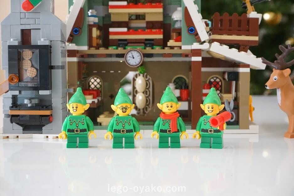 レゴ(LEGO) クリスマス・ウィンター・ビレッジ エルフのクラブハウス 10275のレビュー エルフのミニフィグ