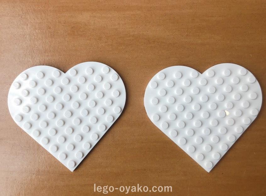 レゴ ハートの形のプレート