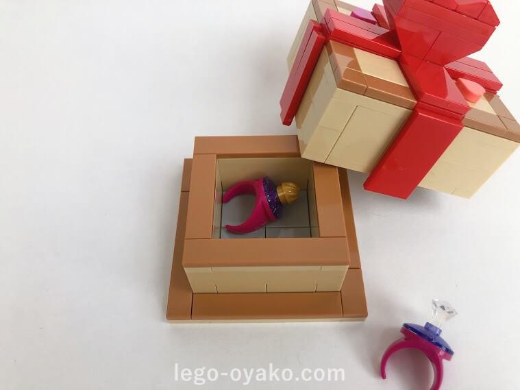 レゴで作ったボックス(箱)と指輪