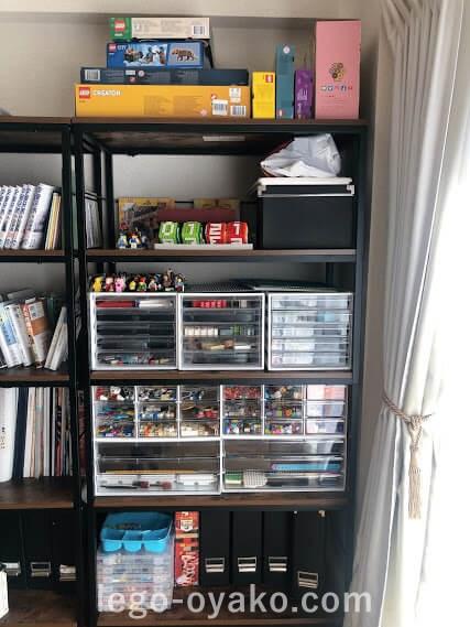 レゴの収納 ニトリの棚とケースを活用