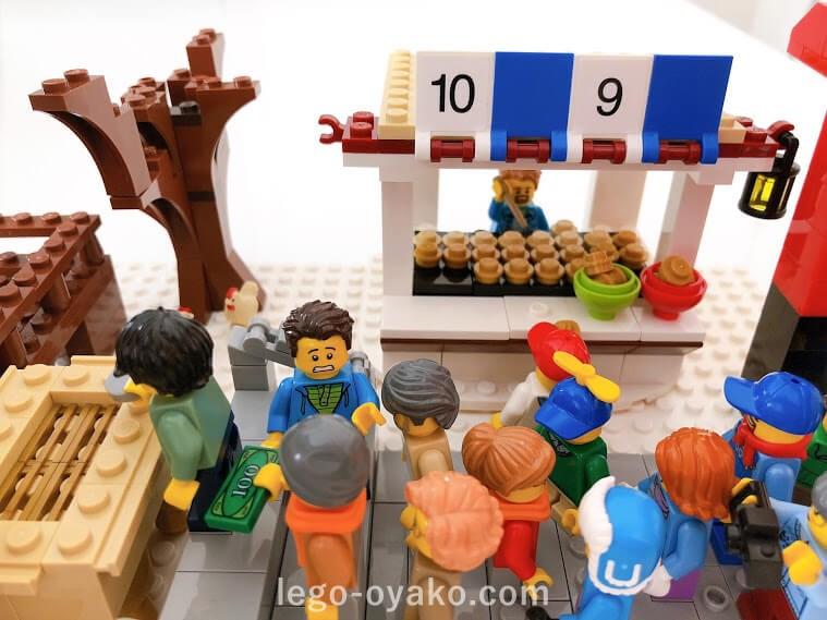 レゴで作った1月のカレンダー